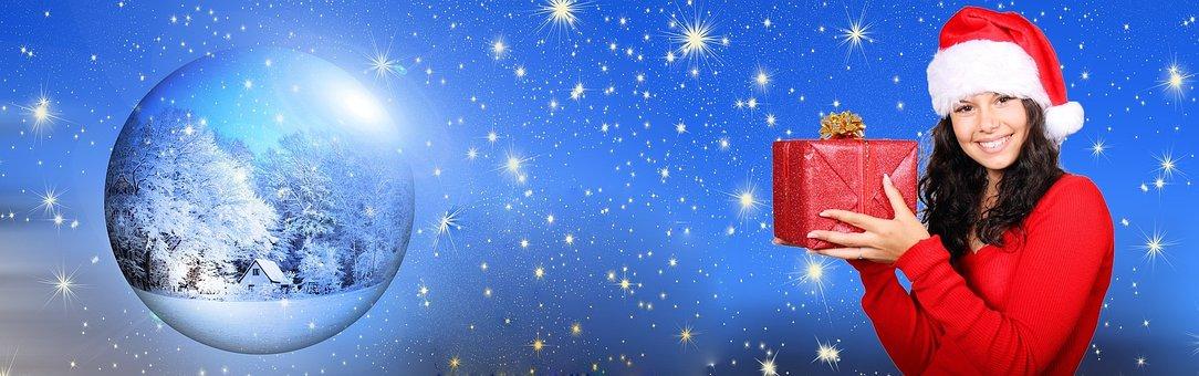 Navidad, Regalo, Banner, Presente, Rojo