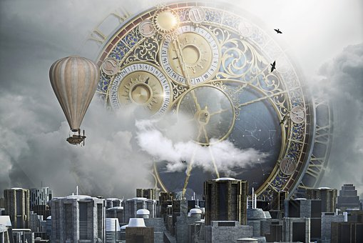 Steampunk, City, Clock, Clock City