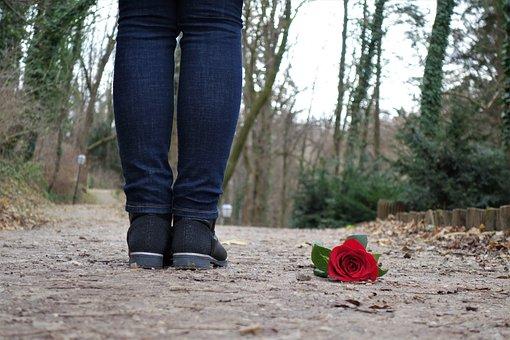 レッドローズの階, 愛, 悲しい少女, 失恋, 孤独です, 女性モデル
