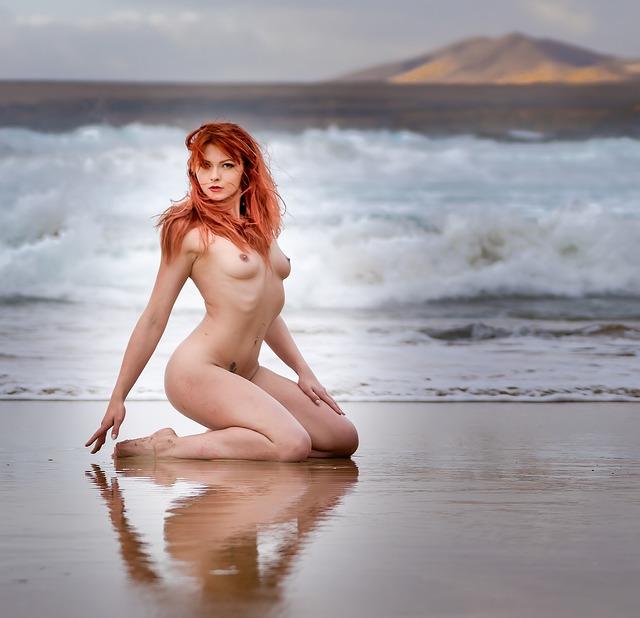 jung nackt strand