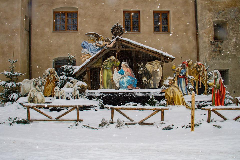 Christmas, Nativity Scene, Winter, Josef, Maria, Crib
