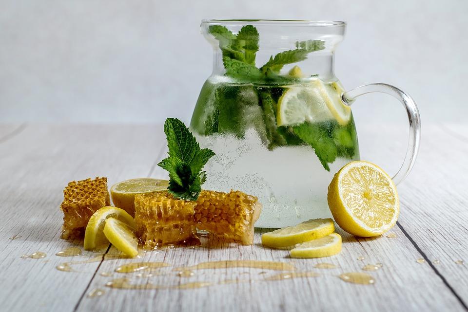 Lemon, Honey, Homemade Lemonade, Drink, Glass, Nature