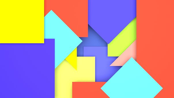 Wallpaper, Square, Triangle, Colourful