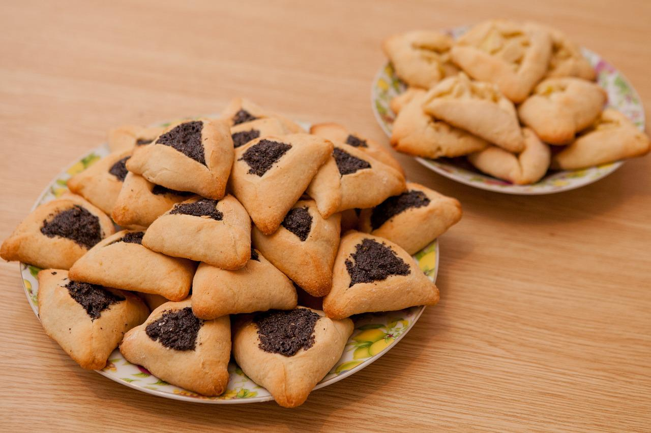 Hamantash cookie, traditional for Jewish Purim holiday