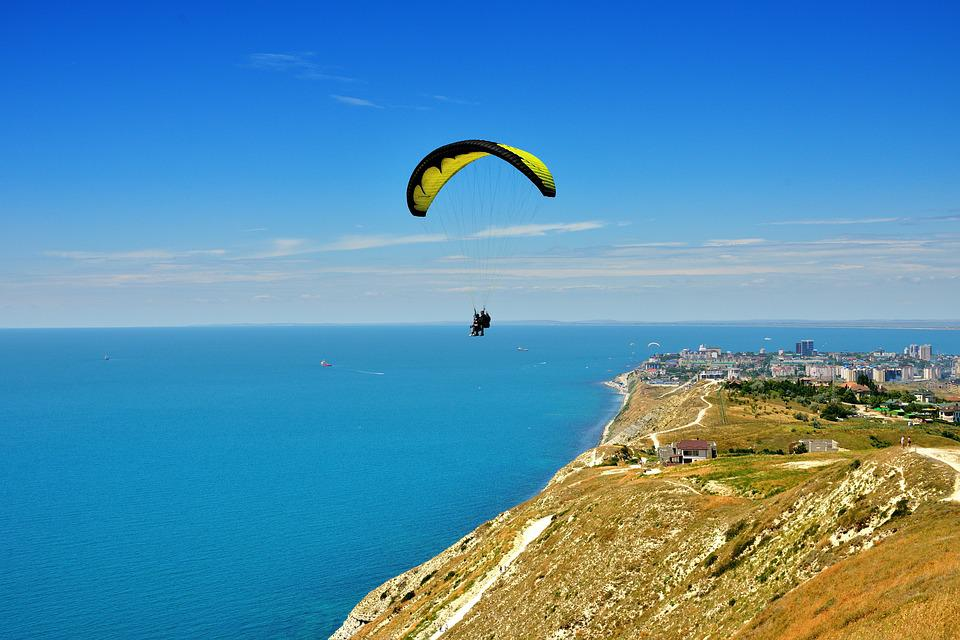 Anapa, Sea, Parachute, Vacation