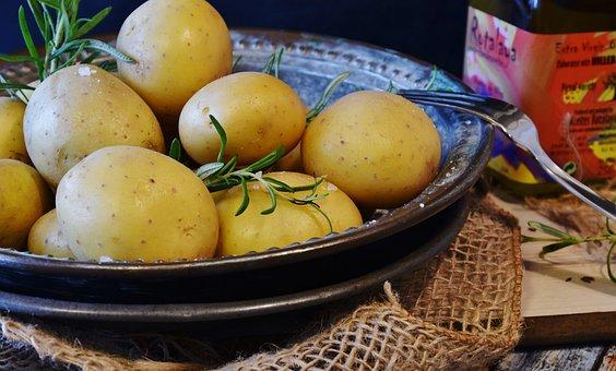 Potatoes, Vegetables, Potato, Thyme, Oil