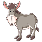 donkey, ass, animation