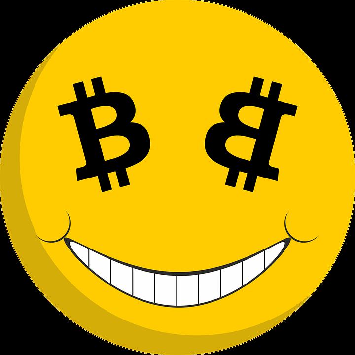 Bitcoin Smiley Wahrung Geld Zahlungsmittel