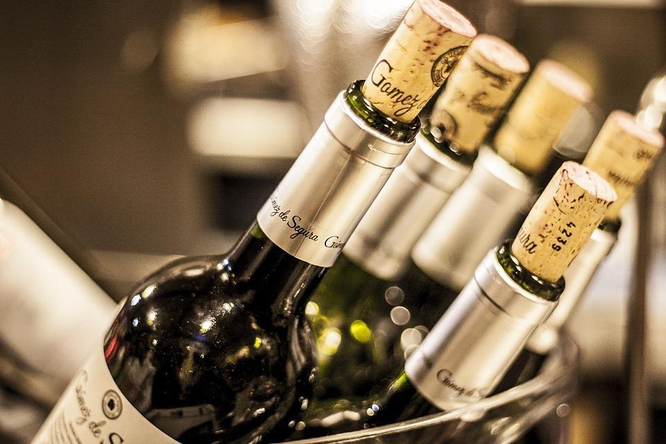 Flasker Vin, Vin, Rødvin, Flaske, Vin Flaskeholder