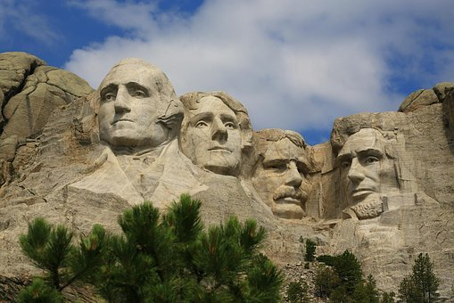 Mountain, Mount Rushmore, Stone