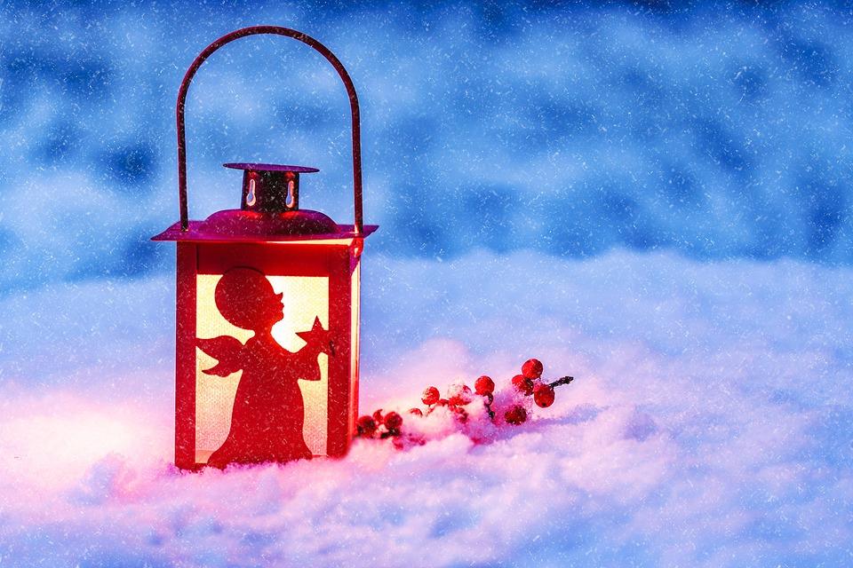 lumière dans la neige