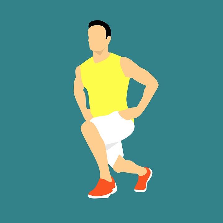 男, 適合, 運動, ジム, 人, トレーニング, ストレッチ, フル, エネルギー, 幸せ, スポーツ