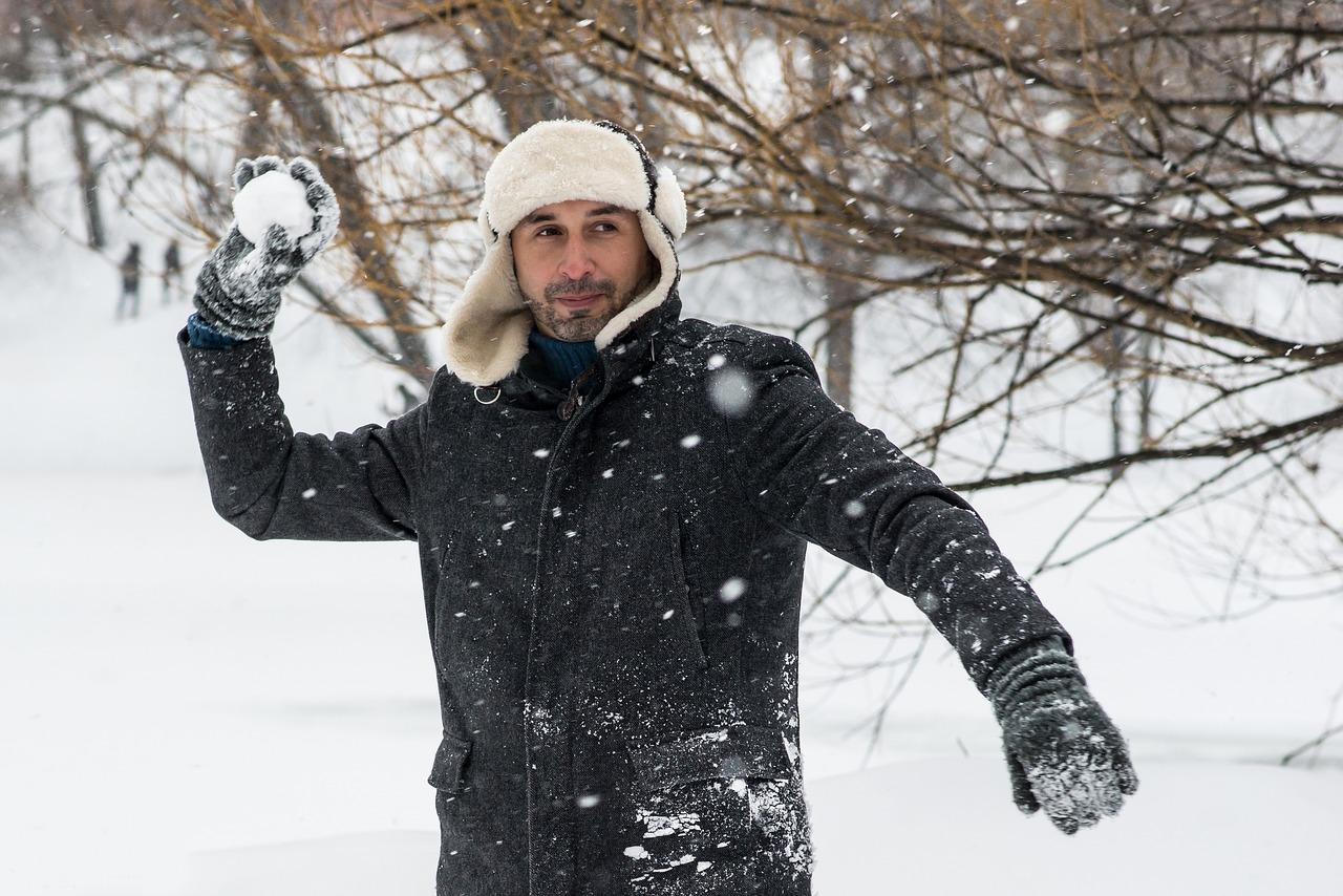 Зимняя мужская фотосессия