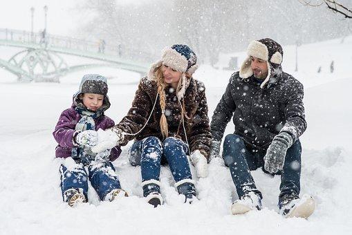 Зима, Снег, Падает Снег, Снежки