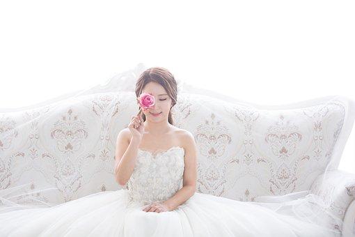 ウェディング, 結婚, 花嫁, ドレス, ウェディングドレス, 白いワンピース