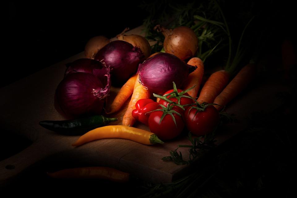Verdure, Dark Mood, Food - Photography, Carote, Cipolle