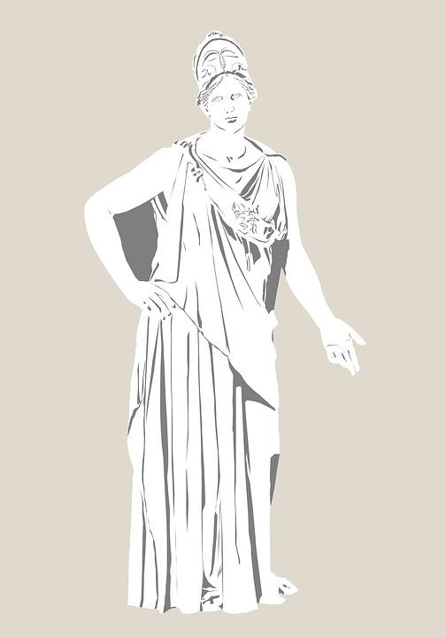 Greek God Athena Drawing