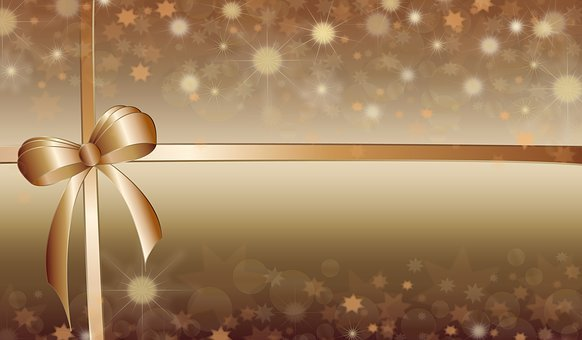 Background, Bow, Christmas, New Year