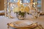 table, place setting, dinner