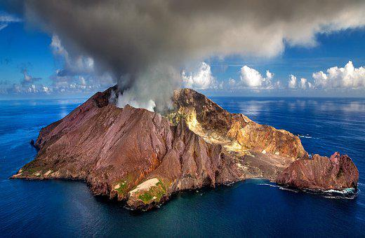 New Zealand, White Island, Island