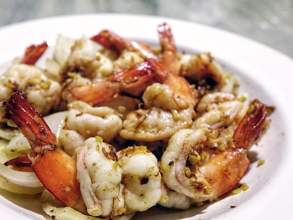 Crevette, Fruits De Mer, Crevettes, L'Ail, Oignon