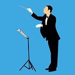 maestro, conductor, orchestra