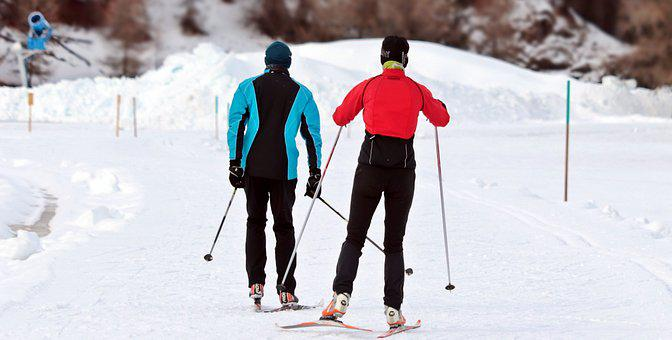 Cross Country Ski, Ski De Fond, Hiver