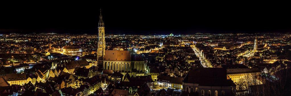 Cidade, centro histórico, Landshut