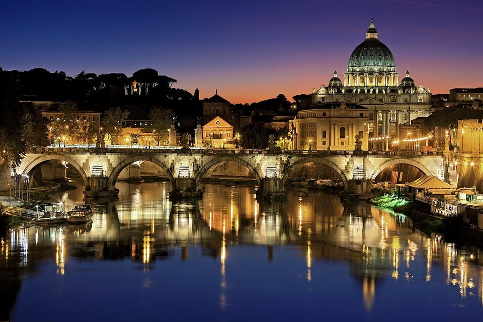 Rzym, Vatican, City, Włochy, Tiber, Watykan