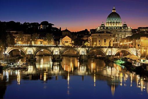 Roma, Vatican, Ciudad, Italia, Tíber