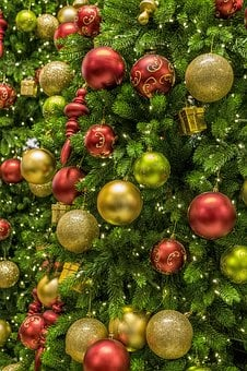 christmas tree ornament deco shining