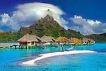 bora bora, wyspa, karaibów