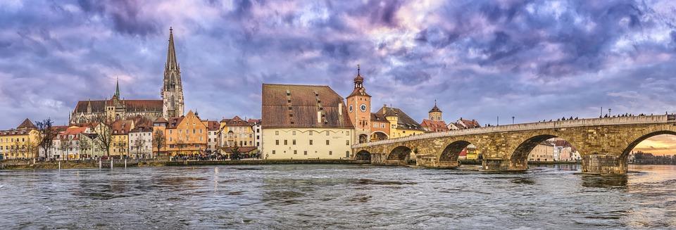 Regensburg, Steinerne Brücke, Dom, Regensburger Dom
