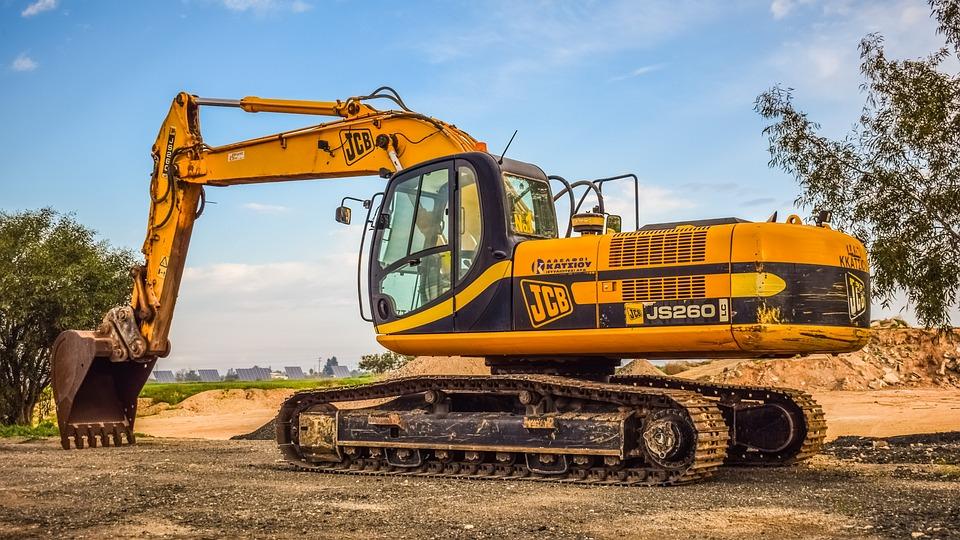 マシン, 重い, スクープ, 業界, 機器, 掘削機, 重い機械, 車両, 機械, 黄色, 茶色工業