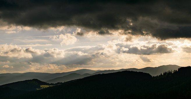 Gebirge, Beskydy, Wolken
