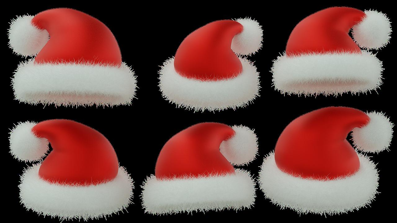 Santa Claus Hat, Julen, Red Hat, Isolerede, 3D, Blender