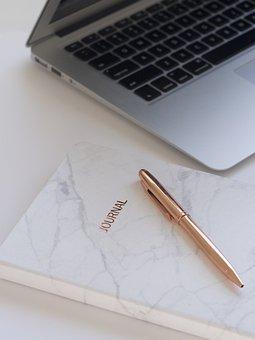 Paper, Business, Laptop, Composition