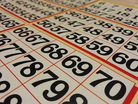 Printing, Mock Up, Bingo, Numbers, Map