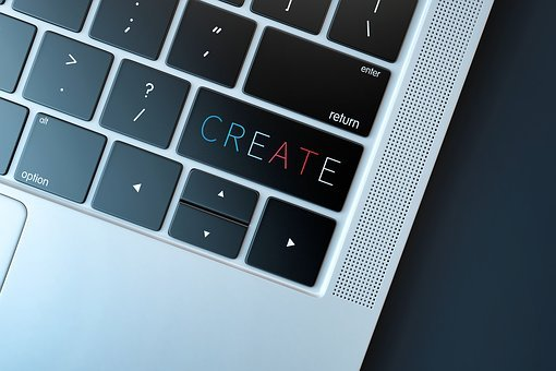 Create, Creation, Creativity, Laptop