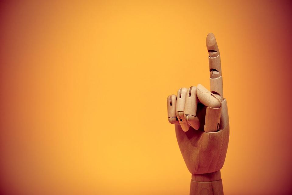 指, 人差し指, ジェスチャ, 交流, ポインティング, ポイント, ポインタ, 上向き, 最初の, 手