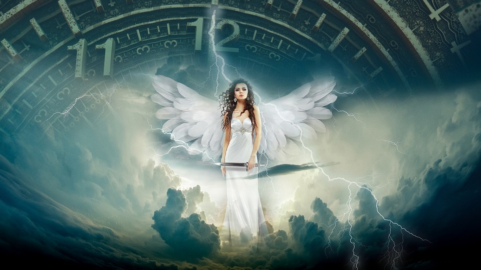 Angel, Time, Fantasy, Magical, Paradise