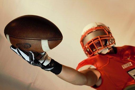 Football, Catch, Player, Ball, American