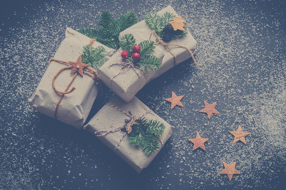 Weihnachten, Geschenke, Winter, Dezember, Hintergrund