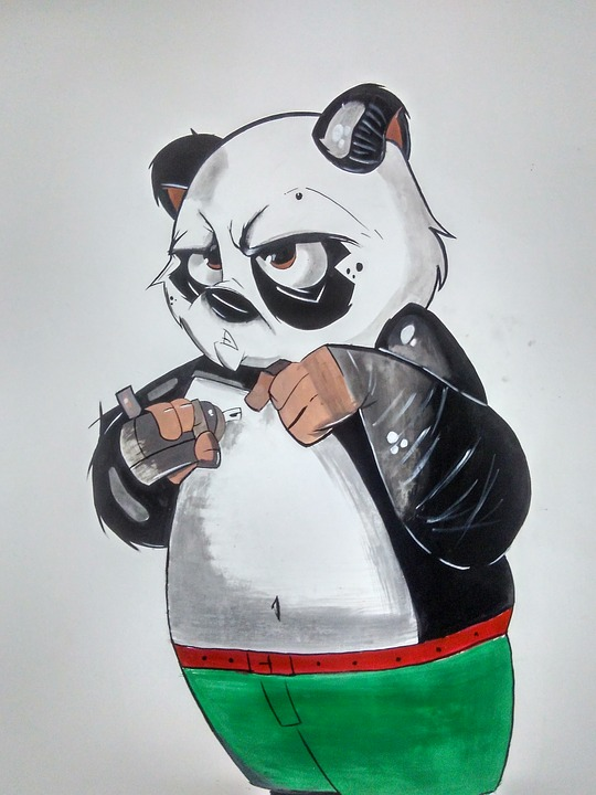 Wall Painting Of Panda Graffiti 183 Free Image On Pixabay