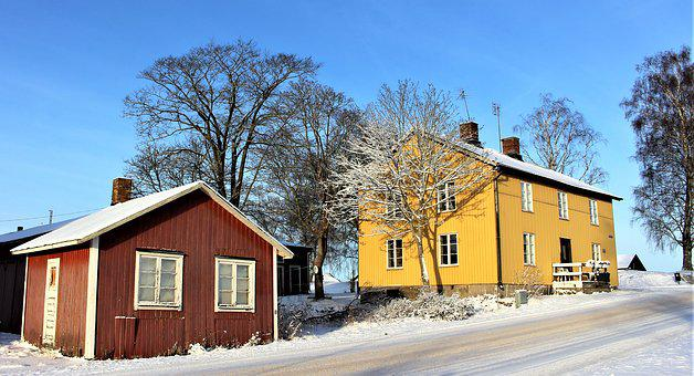House, Winter, Snow, Architecture