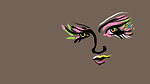 face, woman, colored