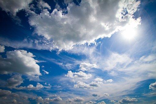 Wolken, Blau, Blauer Himmel, Sommer