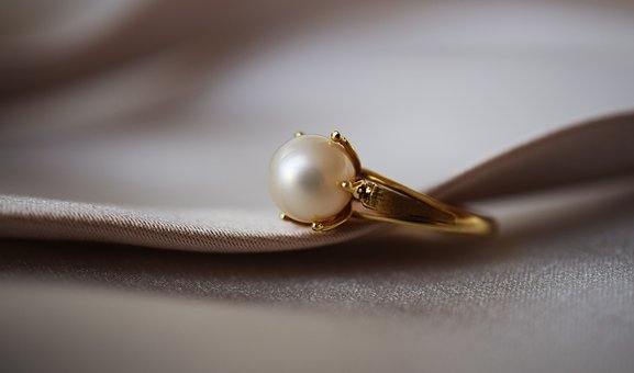 Ring, Pearl, Gold, Shine, Jewelry