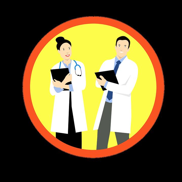 Atención Médica, Médicos, Adhesivo, Mujer, Hombre