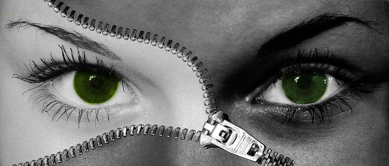 Mujer, Ojos, Componer, La Cara, Cerrar